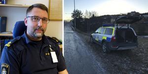 Erik Bylund förundersökningsledare vid polisen i Kramfors. Bilder: Katarina Lind/Lisa Selin