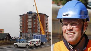 Husbygget går framåt i Timrå och Micael Löfqvist förklarar att inflyttning kommer att ske till sommaren.
