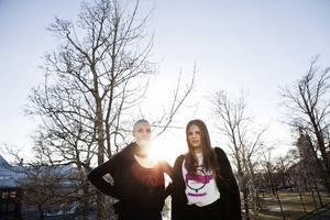 Alveola Ämting från Härnösands fria kulturförening tillsammans med Anna Ljungström från Härntas feminister.