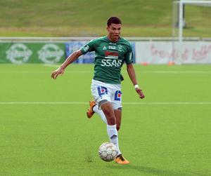 Alexander Jallow lämnade Avesta AIK för IK Brage och spelar numera Superettanfotboll i Jönköping.
