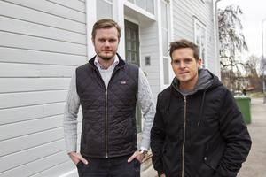 Tobias Österberg och Christian Thunberg träffade på gymmet för snart tio år sedan. Nu är de goda vänner och äger tre företag tillsammans.