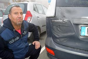 Khalid Darwish lånade kompisens bil ett par dagar. Bilen skadades i branden på Betesgatan.