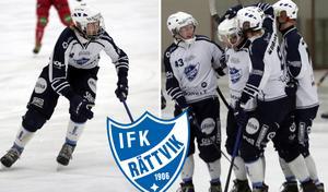 Rasmus Plan (till vänster) var i händelsernas centrum när Rättvik vann lördagens derby.