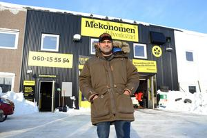 Mohammed Khatoune startar verkstad i egen regim när Mekonomen-verkstaden i Nacksta blir Sundsvalls Bilverkstad.