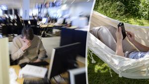 Företrädare för Unionen vill se en bättre arbetsmiljö och ställer åtgärdskrav till arbetsgivare och företag. Bilder: Henrik Montgomery/TT / Christine Olsson/TT