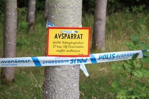 Polisavspärrning torsdagen den 19 juli efter vad som misstänks vara en anlagd brand i närheten av Broddbo bygdegård.