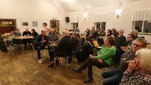 26 ortsbor hade slutit upp på Folkets Hus i Njutånger för att vara med och påverka Njutångers sockens framtid!