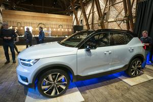 2019 kom Volvo med sin första serieproducerade elbil, XC 40.  Foto: Heiko Junge/TT