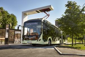 Att testa och utvärdera eldriven busstrafik är en central del av Electricity. Demonstrationsbussarna drevs av förnyelsebar el och är extremt energieffektiva, tysta och helt emissionsfria.  FOTO: Electricity
