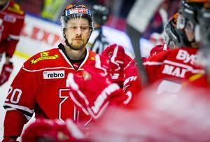 Marcus Weinstock har gjort över 500 matcher för Örebro Hockey och var lagkamrat med Gunnarsson 2012/13 när det var NHL-lockout. Foto: Johan Bernström/BILDBYRÅN