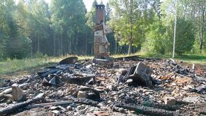 Friluftsfrämjandets klubbstuga eldhärjades så illa på fredagsmorgonen så att hela brann ned till grunden.