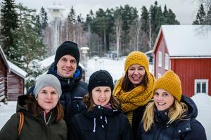 Nu tas ett helhetsgrepp om kommande investeringar på Norra berget. På bilden syns representanter från Sweco (Linda Samuelsson längst bak till höger, Sara Lindberg  längst fram till höger) och Sundsvalls kommun (Daniel Eklund längst bak, på främre raden till vänster Elin Berglund med Lina Landell till höger).