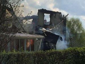 Villan i Ånge gick inte att rädda. Foto: Erik Olsson