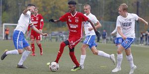 Sala FF:s Jehad Jemal i hemmamatchen mot Forssa förra säsongen.