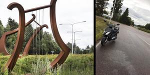 Olyckan skedde vid Norslundsrondellen         Foto: Staffan Björklund