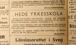 I Hede kunde man utbilda sig till husmor.