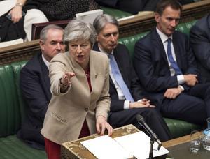 Premiärminister Theresa May har en tuff tid.