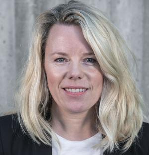 """Kristina Grahn Persson, chef för HR och affärsstöd, ser Diös som det mest spännande bolaget att jobba på i Östersund. """"Vi har kvalificerade jobb och ansvarsfulla roller"""", säger hon."""