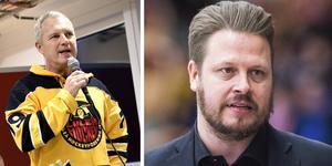 Foto: Bildbyrån. Stefan Enbom (t.v.) var inte helt nöjd efter Fredrik Gladers (t.h.) övergång till Modo.