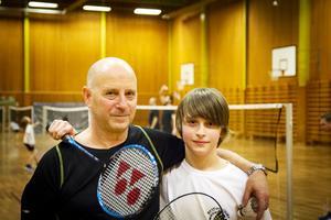 David Qvarford tillsammans med pappa Jörgen.