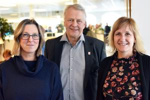 Caroline Smitmanis Smids, utvecklingschef, Peter Karlsson, kommunchef och Anna Hed, kommunalråd, befann sig på invigning.