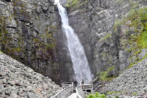 Sveriges högsta vattenfall Njupeskär kan ses som huvudattraktion i Fulufjällets nationalpark. Arkivbild.