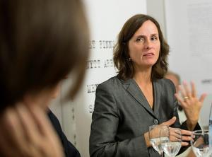 Författaren Susanna Alakoski diskuterar arbetarlitteratur på Arbetet Live. Foto: Maja Suslin/ SCANPIX