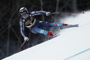 Felix Monsén i tävling. Nu får han vila på grund av en hjärnskakning.