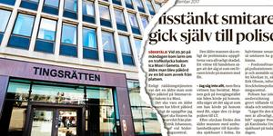 Foto: Mattias Holgersson. Tidningsklipp från LT, onsdagen den 6 september 2017.