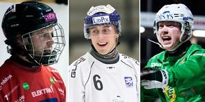 Joakim Svensk, Martin Karlsson och Felix Nyman. Tre av spelarna i Veckans lag. BILD: Leo Hägglund/Christoffer Million/Erik Simander