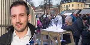 Erik Hanzon, på Södertälje city ser fram emot årets vinterfest.