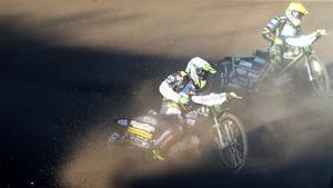 Fredrik Lindgren slutade tvåa i Hallstaviks-GP:et.