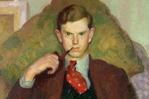 Evelyn Waugh 1930. Detalj ur målning av Henry Lamb.