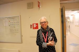 Tf rektor Kajsa Henriksson på Hälsinggårdsskolan.