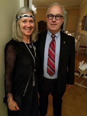 Eva Wikström och landshövding Per Bill.