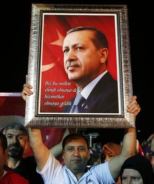 Som väntat segrade Erdogan i helgens val. Foto: AP Photo/Lefteris Pitarakis