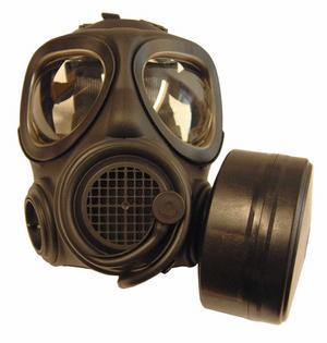 Det handlar om denna Skyddsmask 90, som enbart Försvarsmakten får använda nu efter Arbetsmiljöverkets beslut i april i år. Foto: Försvarsmakten