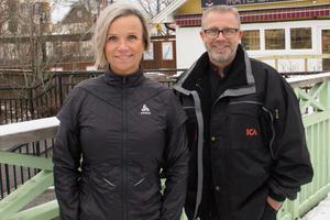 Icahandlarna Magnus Dahlström och Tina Dahlström Berg. Bild tagen vid ett tidigare tillfälle.
