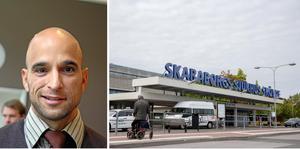 Alex Bergström (S), oppositionsregionråd, förklarar innehållet och satsningarna i det socialdemokratiska budgetförslaget. Västra Götalandsregionens regionfullmäktige tar beslut om budget för 2022 nästa vecka.