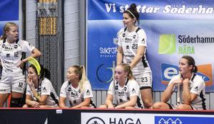 Hudik/Björkberg spelade 2–2 mot Söderhamn i genrepet för två veckor sedan. Spelade tränaren Josefine Parling står längst bak med nummer 23 på tröjan.