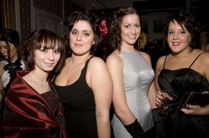 De fyra bästa vännerna; Sofia Lopushanskaya, Sarah Bayard, Jennifer Andersson och Lina Nordström.