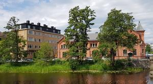 Vasakvarteret med Vasakyrkan till vänster och Vasastrand till höger.