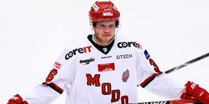 Oscar Pettersson lämnar Modo för Västervik. Bild: Josefine Loftenius/Bildbyrån
