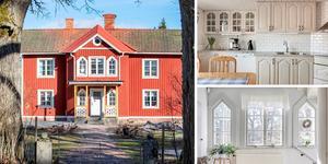 Gården i Himmeta med anor från 1860 är veckans mest klickade. Foto: Fastighetsbyrån Köping