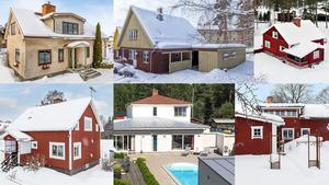 Ett montage med några av husen på Hemnets