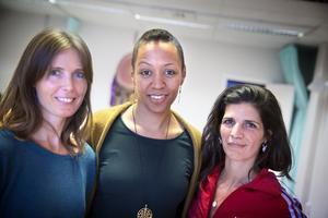 Marie Ljungsten, Mariama Camara och Patricia Ponte de Jesus äger och driver Järna dans- och yogastudio sedan två år tillbaka.