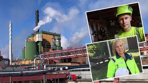 Stora Enso Fors Bruk är helt fossilfri i sin ång– och elproduktion. Miljöingenjör Birgitta Johansson och pannhusoperatör Martin Ekberg är stolt över sin arbetsplats.