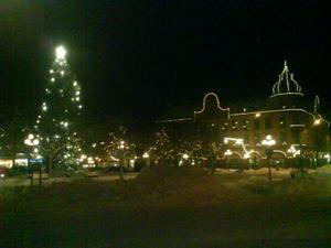 Den här bilden togs 2010, när det var riktigt fin julstämning.