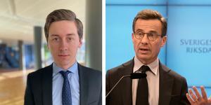 Christopher Hedbom Rydaeus (M) försvarar  Ulf Kristersson och Moderaternas förslag  om arbetskraftsinvandring.