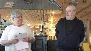 Christina Ling och Gunnar Abrahamsson informerade på Tännäsgården.